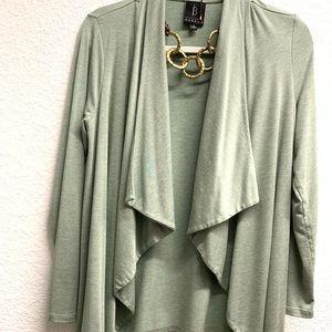 Bobeau Cardigan Sweater Sage Green Med. Made 🇺🇸